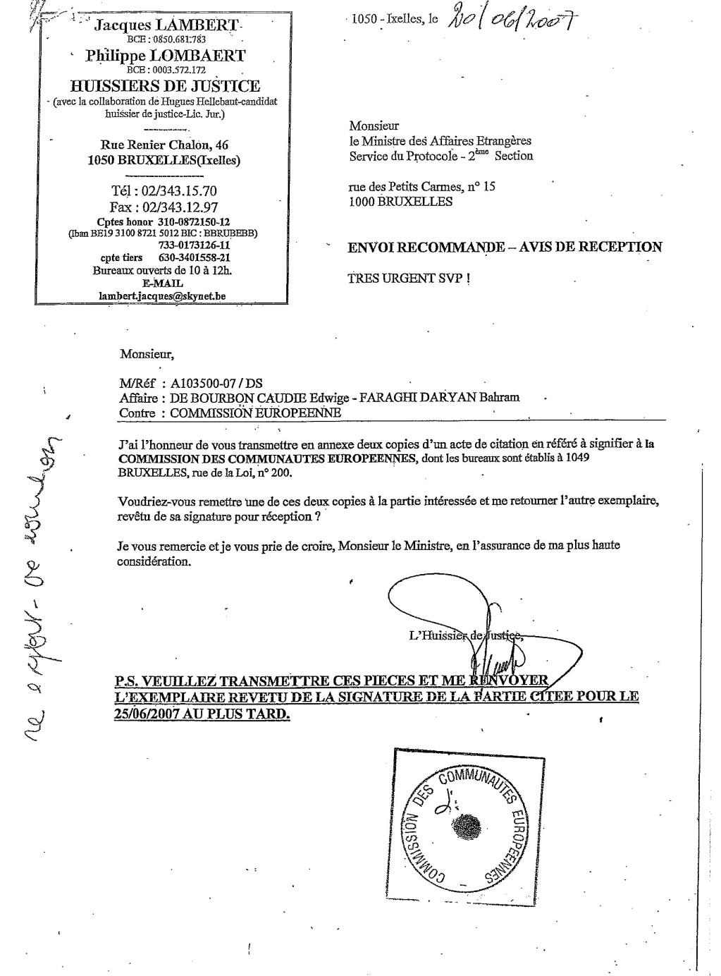 Proces contre Commission Europeenne - Mission Controle Budget EU COCOBU1